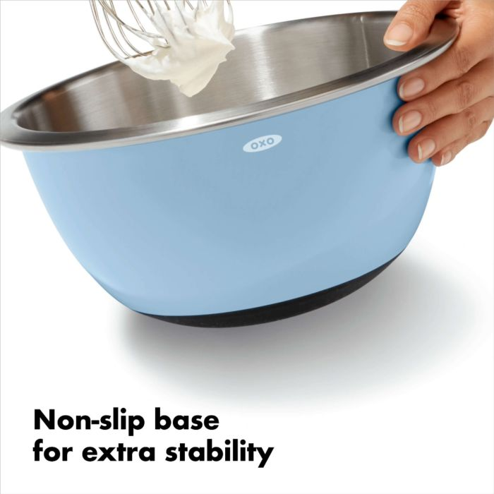 3-Piece Stainless Steel Mixing Bowl Set - Blue/Gray 176783