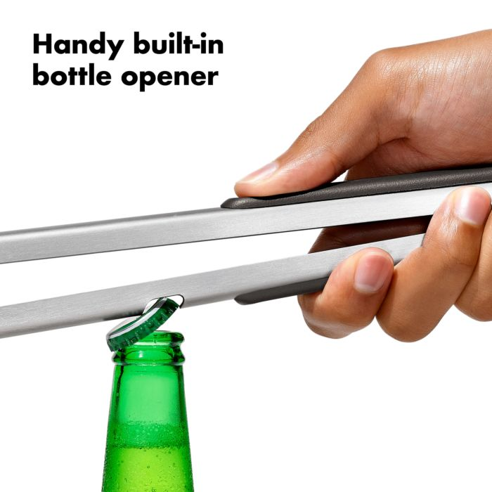Grilling Tongs with Built-In Bottle Opener 177602