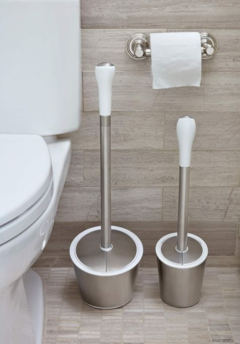Stainless Steel Toilet Plunger & Canister 176010