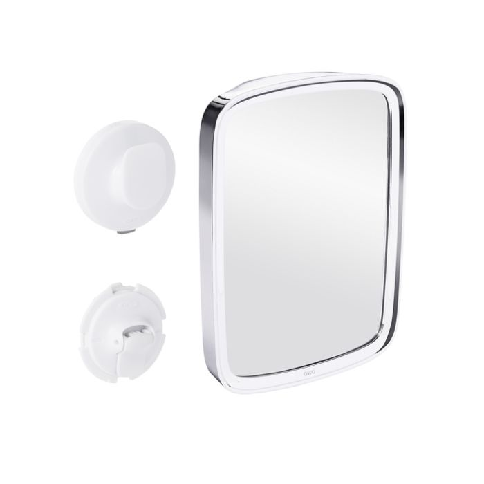 Suction Chrome Fogless Shower Mirror 4321