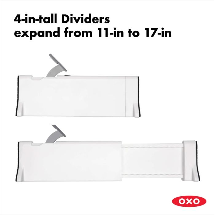 OXO Good Grips Expandable Dresser Drawer Divider (2 Pack) 176502