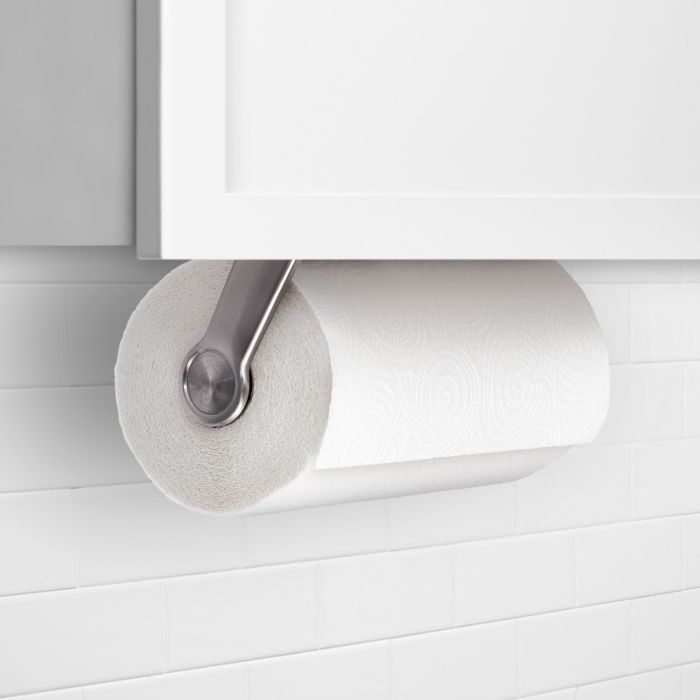 OXO Steady Mounted Paper Towel Holder under kitchen cabinets