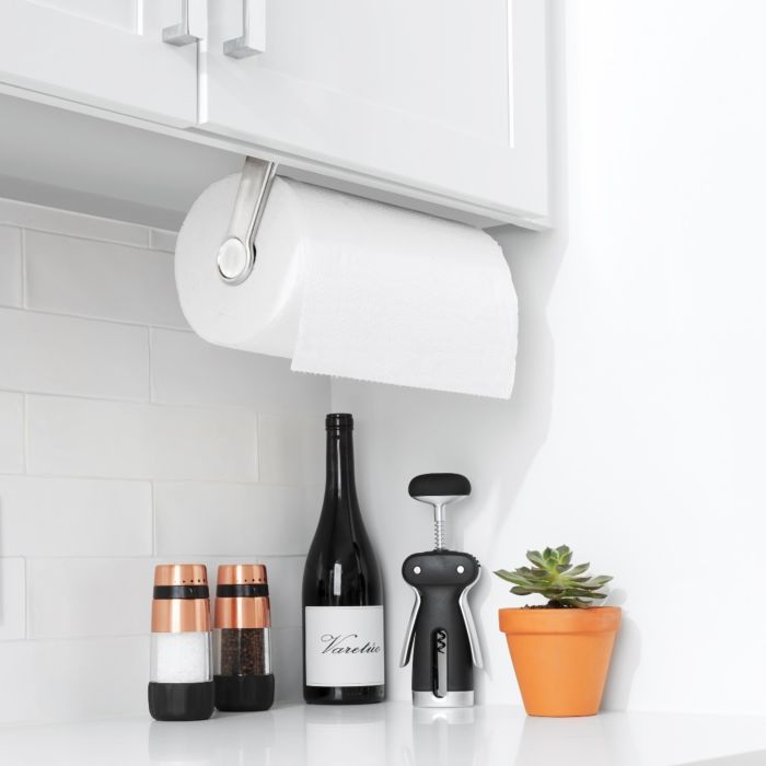 OXO Steady Mounted Paper Towel Holder installed above countertop
