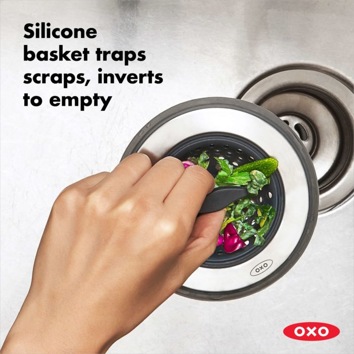 2-in-1 Silicone Sink Strainer with Stopper 177750