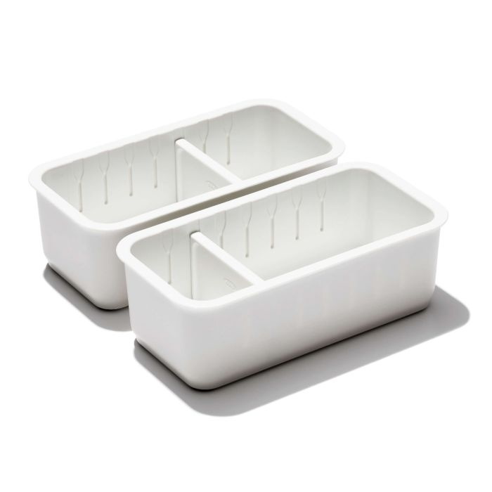 2-Piece Slim Adjustable Drawer Bin Set  176284