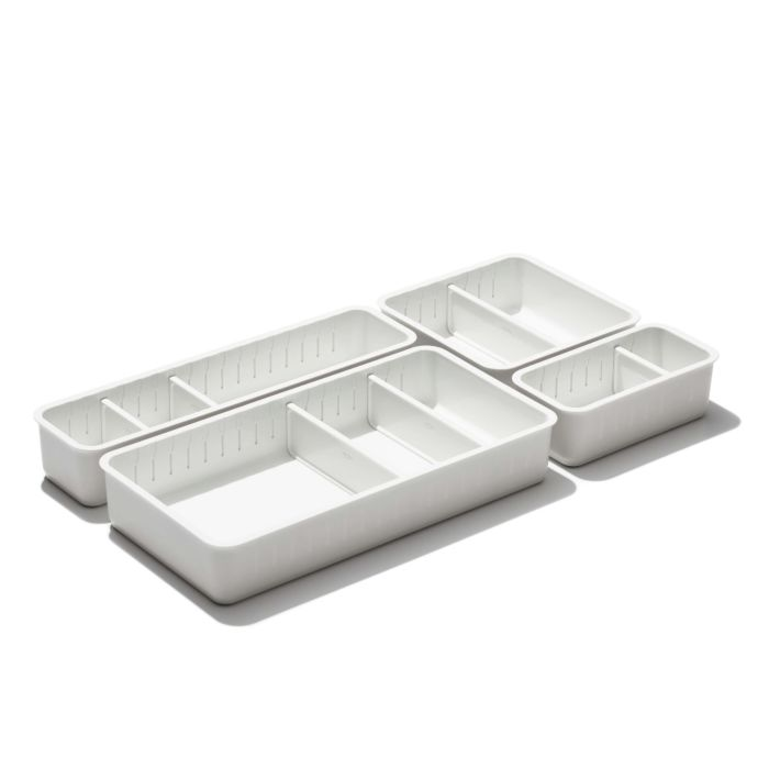 4-Piece Complete Adjustable Drawer Bin Set  176310