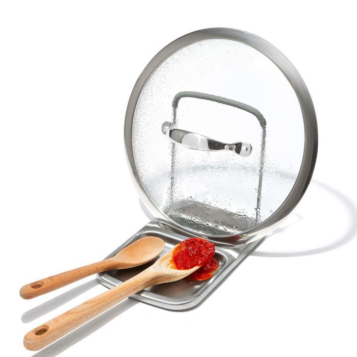 Stainless Steel Spoon Rest with Lid Holder 176876