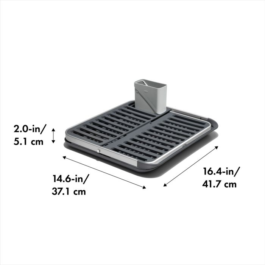 OXO Good Grips Aluminum Fold Flat Dish Rack 178156