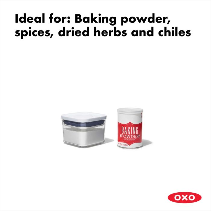 OXO POP Container, Small Square Mini 0.4 qt. 175437