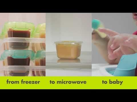 2 oz Baby Blocks™ Plastic Freezer Storage Containers 7249