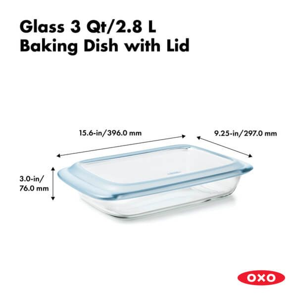 Glass Baking Dish with Lid (3.0 Qt) 176780