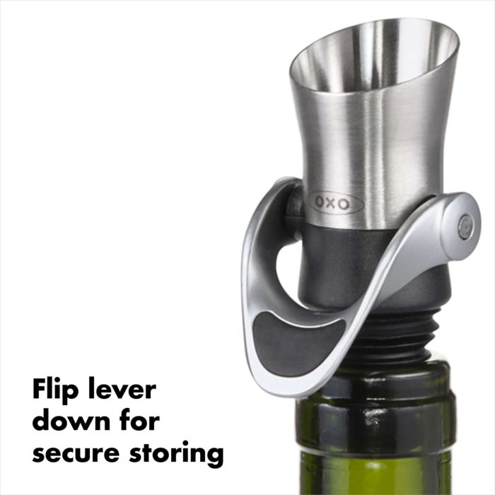 Steel Wine Stopper & Pourer 177664