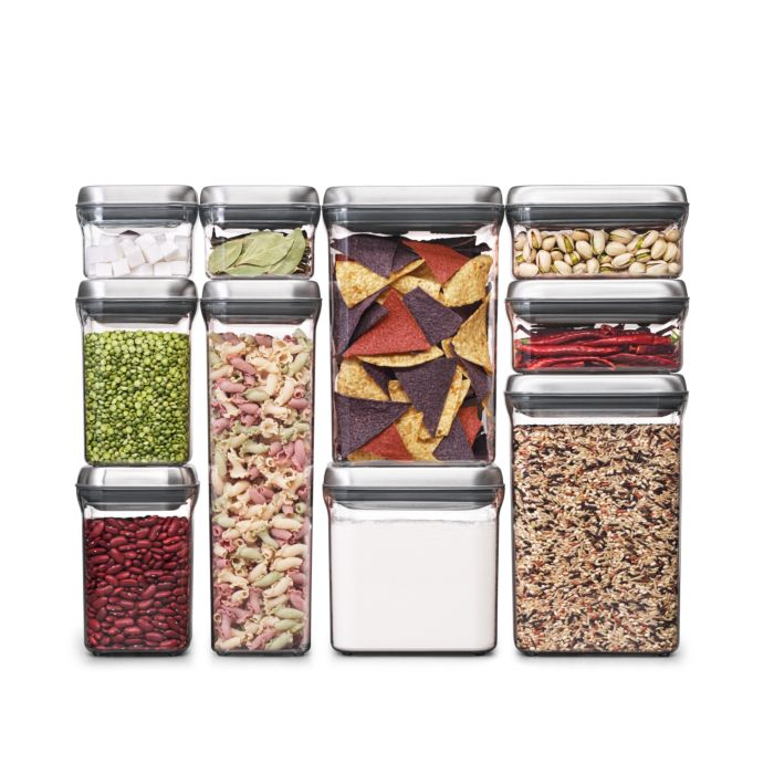OXO SteeL 10-Piece POP Food Storage Container Set 5159