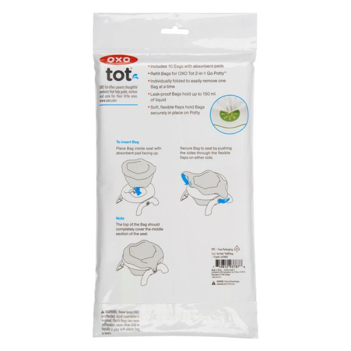 OXO Tot 2-In-1 Go Potty Refill Bags - 10 Pack 3238