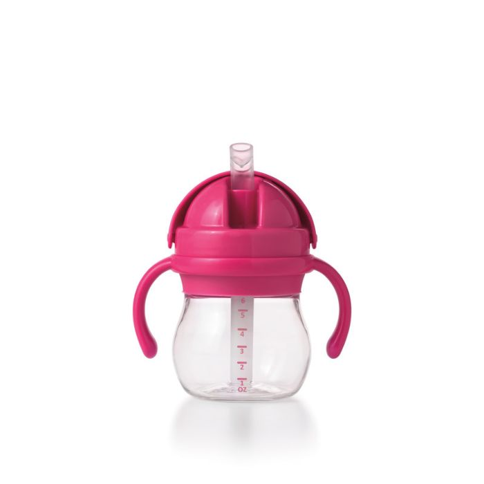 Transitions Straw Cup with Handles-Pink 3813
