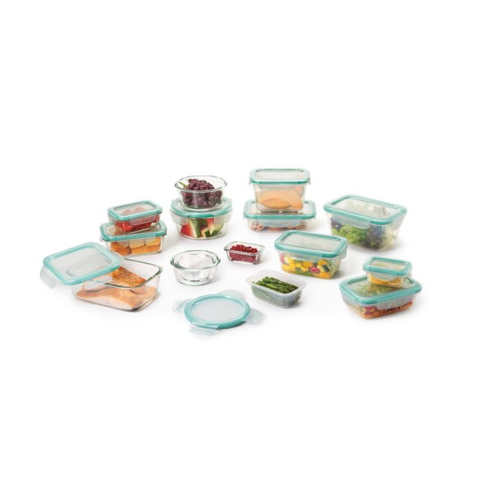 OXO Good Grips 30 Piece Smart Seal Glass & Plastic Container Set 5701