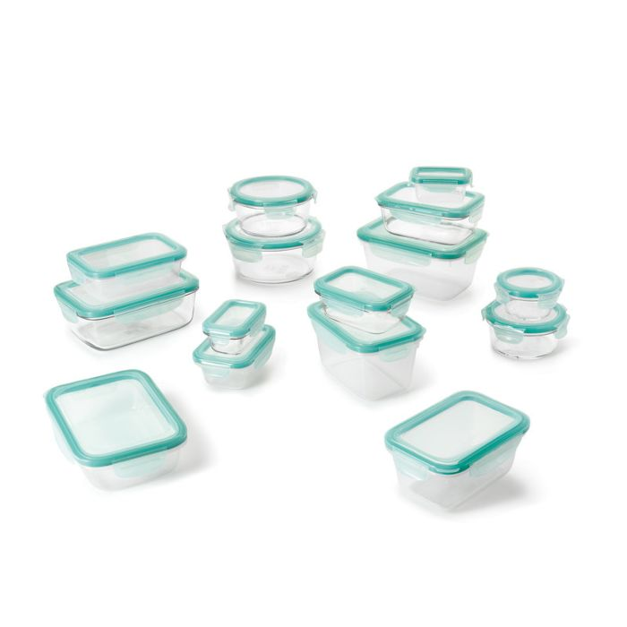 OXO Good Grips 30 Piece Smart Seal Glass & Plastic Container Set 5703