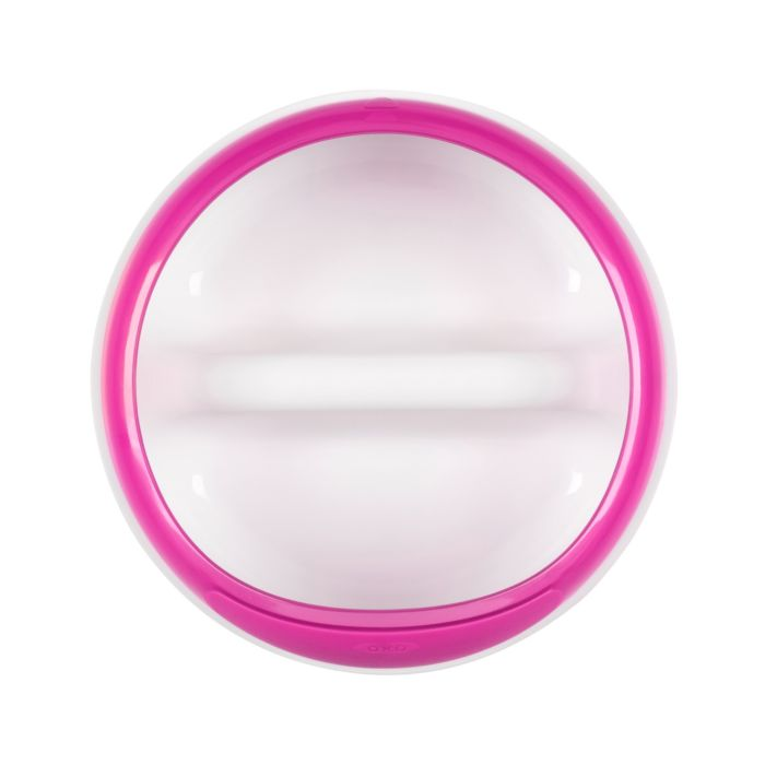 OXO Tot Divided Feeding Dish With Removable Ring - Pink 6989