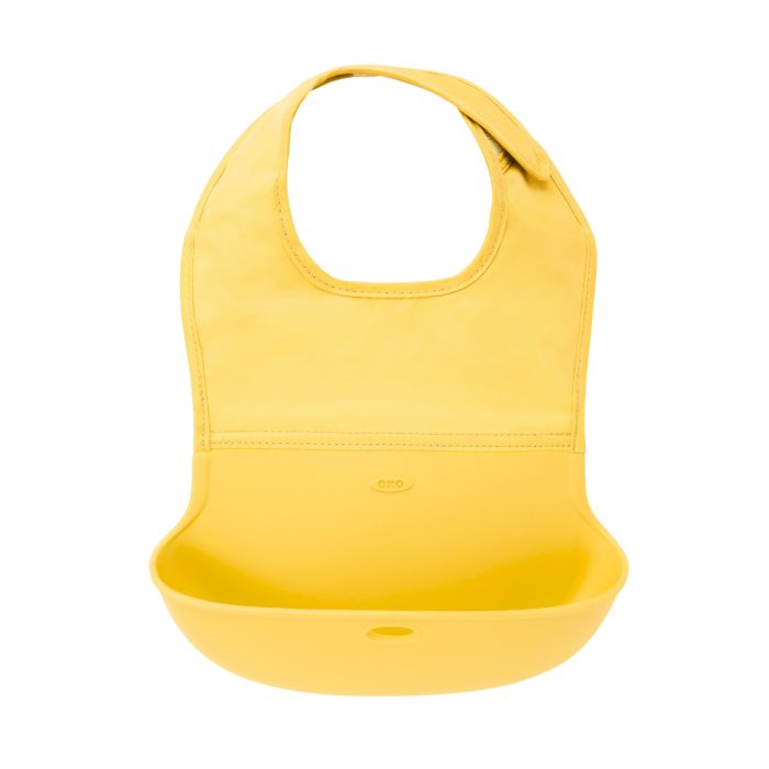 TM Aqua by OXO Tot OXO Tot Roll Up Bib with Soft Comfort Fit Neck