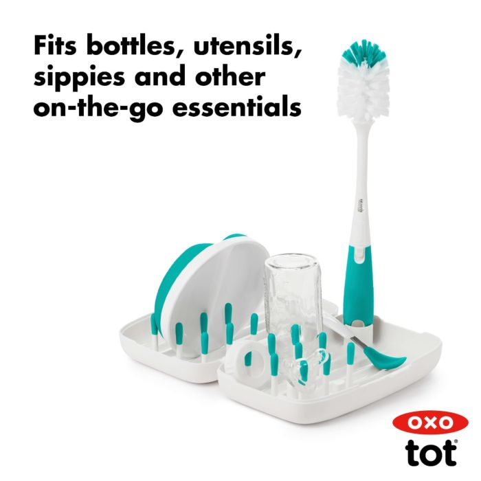 On-The-Go Drying Rack With Bottle Brush 176062