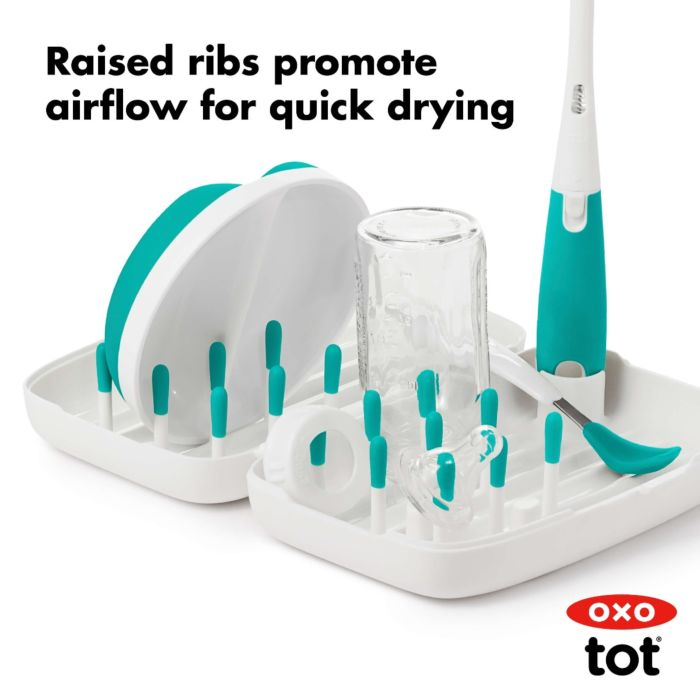 On-The-Go Drying Rack With Bottle Brush 176066