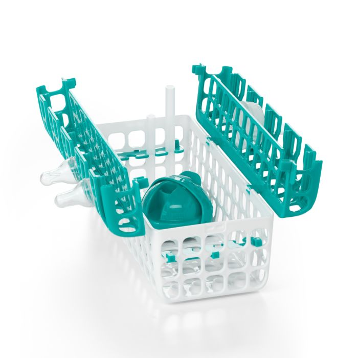 Open OXO Tot Dishwasher Basket in Teal