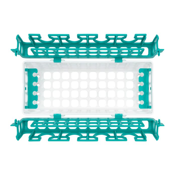 Top view of empty OXO Tot Dishwasher Basket in Teal