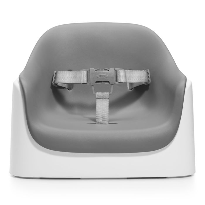 Gray OXO Tot Nest Booster Seat with Removable Cushion