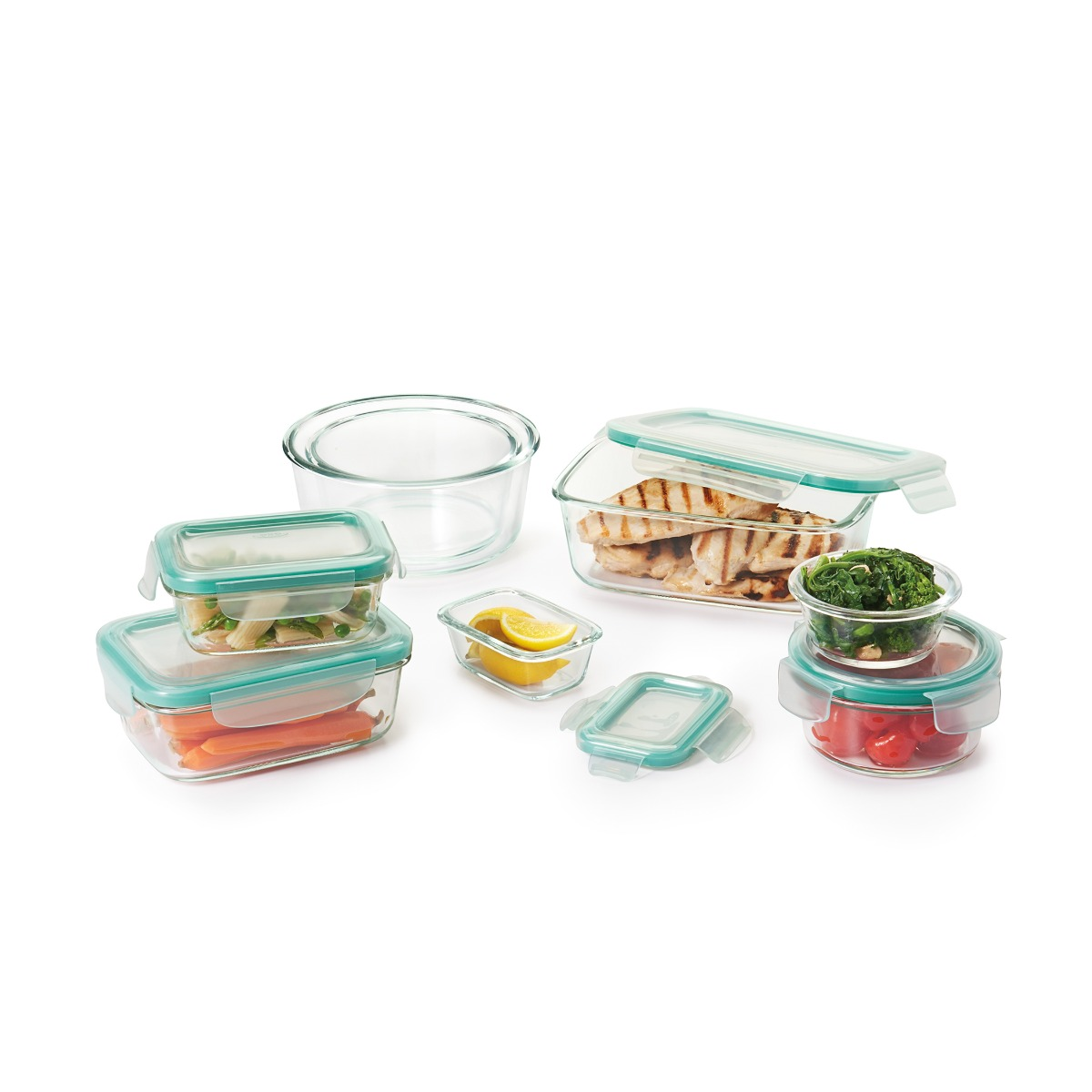 OXO 16 Piece Smart Seal Glass Container Set