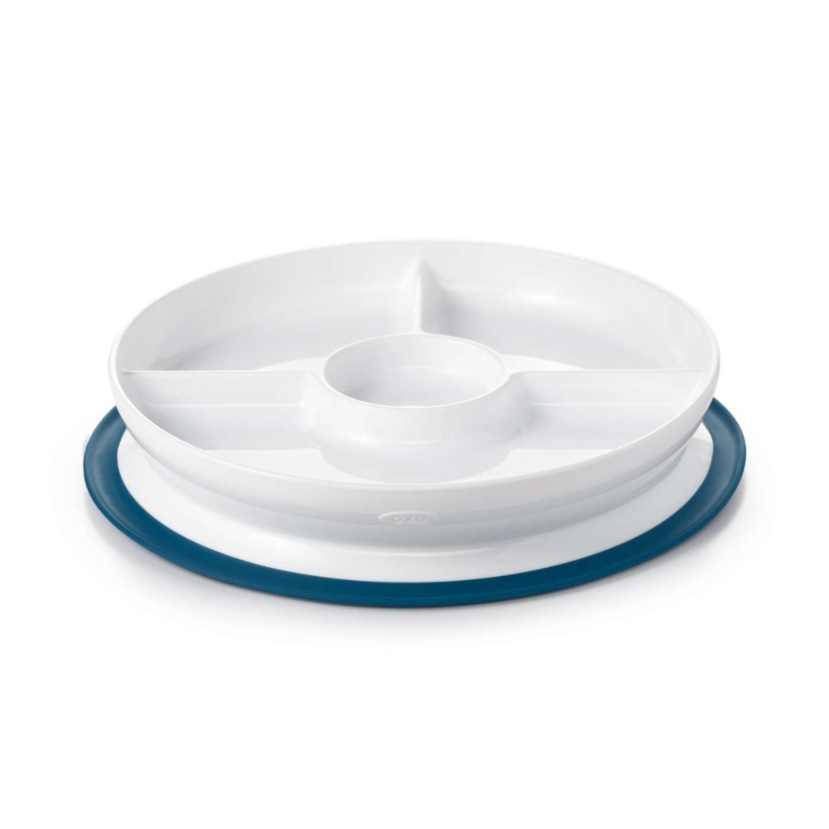 OXO Tot Stick & Stay Suction Divided Plate-Tot Navy
